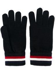 перчатки с полосатой окантовкой Moncler