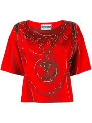 футболка с принтом рюкзака Moschino