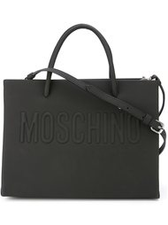 сумка-тоут с тисненым логотипом  Moschino