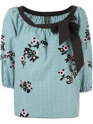 клетчатая блузка с цветочным принтом Marc Jacobs