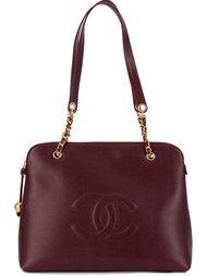 сумка на плечо с цепочной отделкой Chanel Vintage