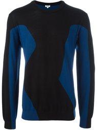 двухцветный свитер  Kenzo