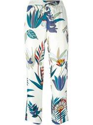 брюки с растительным принтом  Tory Burch