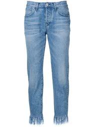 укороченные джинсы с необработанными краями 3X1