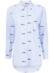 рубашка с вышивкой рыб Sea