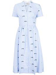 платье с вышивкой рыб Sea