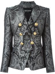 двубортный пиджак с узором пейсли Balmain