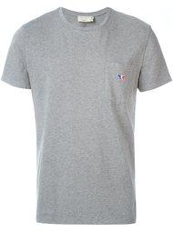 футболка с вышитым логотипом Maison Kitsuné
