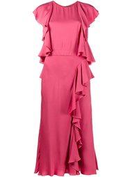 платье с оборками  Alexander McQueen