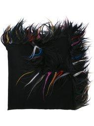 шарф с отделкой из козьей шерсти Giorgio Armani