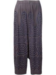 гофрированные брюки с этническим принтом Pleats Please By Issey Miyake
