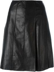 кожаная юбка А-образного кроя Marc Jacobs