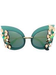 солнцезащитные очки с украшением в виде кристаллов Swarovski Dolce & Gabbana