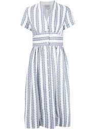 полосатое платье с V-образным вырезом Sea