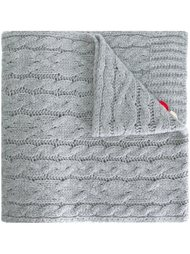 шарф вязки косичкой Moncler
