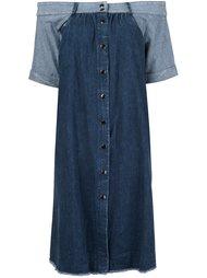 джинсовое платье с открытыми плечами Sea