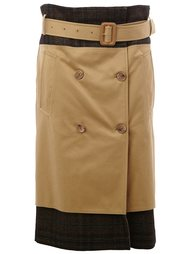 контрастная юбка  Maison Margiela