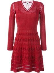 трикотажное платье с V-образным вырезом M Missoni