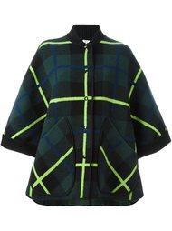 клетчатое пальто с широкими рукавами M Missoni