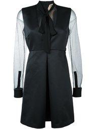 приталенное платье с сетчатыми рукавами Nº21