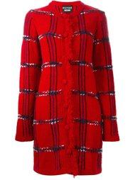 трикотажное пальто в клетку Boutique Moschino