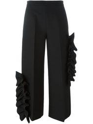 широкие брюки с оборками MSGM