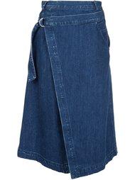джинсовая юбка с запахом Sea
