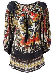 блузка с ухором  Roberto Cavalli