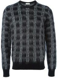 свитер в клетку  Saint Laurent