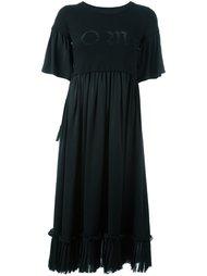 платье-футболка с плиссированным подолом Mm6 Maison Margiela