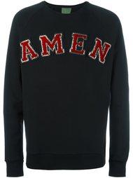 толстовка с фактурным логотипом Amen
