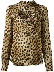 блузка с леопардовым принтом   Blumarine