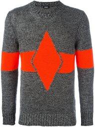 свитер с полоской в технике интарсия Diesel