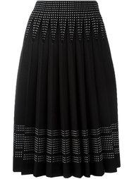 плиссированная юбка А-образного кроя Alexander McQueen