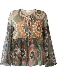 полупрозрачная блузка с принтом Chloé
