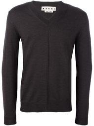 свитер c V-образным вырезом   Marni