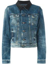 джинсовая куртка с контрастным воротником Diesel