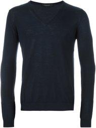 свитер c V-образным вырезом   Roberto Collina