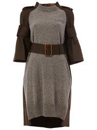 вязаное платье с панельным дизайном  Sacai