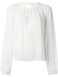 блузка с волнистым жаккардовым узором Chloé