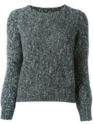 свитер с контрастной спинкой Twin-Set