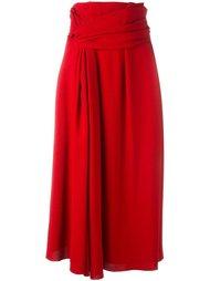 юбка с декоративным узлом Lanvin