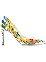 туфли с принтом Majolica  Dolce & Gabbana