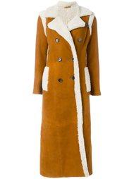 длинное пальто с овчиной Giada Benincasa