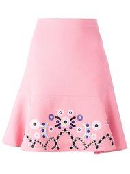юбка с вышивкой Peter Pilotto