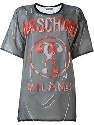 футболка с принтом логотипа Moschino