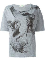 футболка с принтом лебедей  Stella McCartney