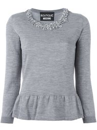 свитер с оборками  Boutique Moschino