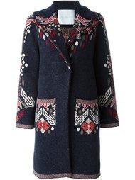 пальто с цветочным принтом Giada Benincasa