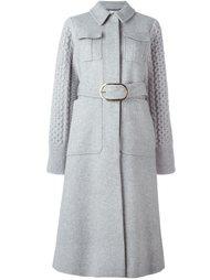 трикотажное пальто с поясом Stella McCartney